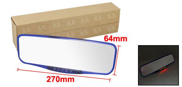 Auto Car Interior Rectangular Blue Plastic Frame Flat Rearview Mirror