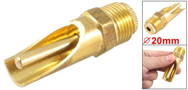 Gold Tone Brass NPT 1/2