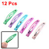 """12 Pcs 1.7"""" Metal 6 Colors Snap Bendy Hair Clips Bow Prongs for G..."""