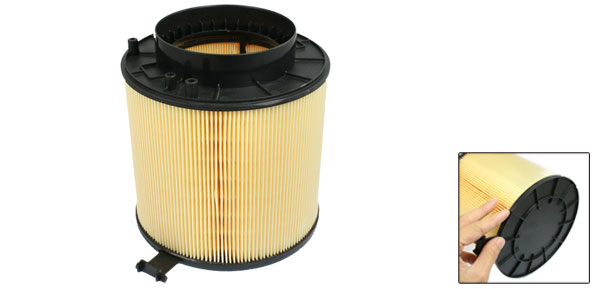 Car Air-intake System Cartridge Air Filter Black Yellow 8K0-133-843