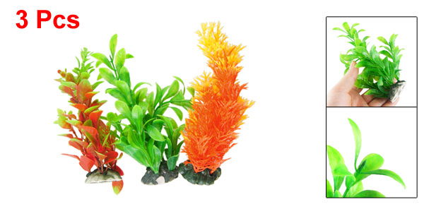 Aquarium Fish Tank Underwater Aquascaping Colorful Plastic Plant 6.3