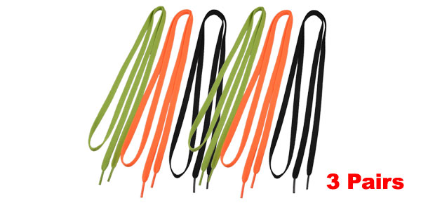 3 Pairs Colored Flat Strings 0.35