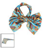 Blue Shade Polyester Flower Printed Scarf for Ladies