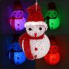 Plastic Tinsel Hat Scarf Snowman Xmas Tree Hanger Ornament w Chan...