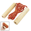 7.3ft Long Exercise Wooden Handles Orange Nylon Jumping Skipping Rope