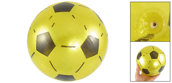 Yellow Inflatable PVC Soccer Football Ball Toy for Children