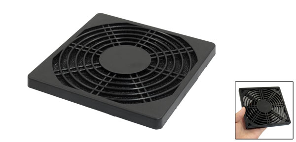 Black Plastic Dustproof Filterable 120mm Fan Filter Guard for PC Computer