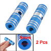 Pair Aluminum Antislip Bicycle Bike Axle Foot Pegs Blue Silver To...