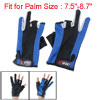 Pair Nonslip Rubber Dot Nylon Fishing Gloves Black Blue
