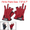 Pair Nylon Anti Slip Hand Fishing Two Full Fingers Gloves Three T...
