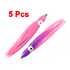 5 x Glitter Cuttlefish Shaped Soft Plastic Fishing Baits Lures St...