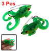 "3 Pcs Simulated Frog 1.9"" Long Gray Soft Silicone Fishing Baits L..."
