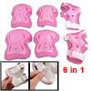 Kids Skate 6 in 1 Wrist Elbow Knee Plastic Pads Support Brace Set...