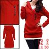 Allegra K Ladies Red Long Sleeves Pullover Slim Leisure Thin Swea...