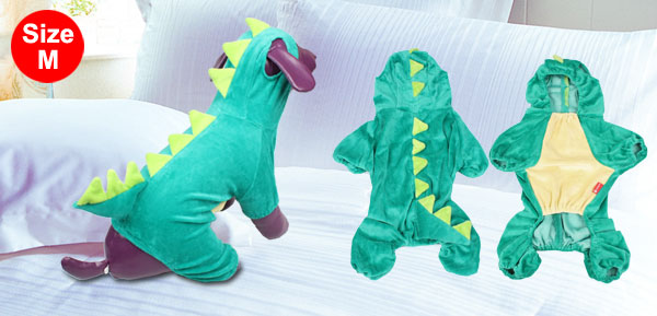 Halloween Costume Dinosaur Design Dog Clothes Coat Puppy Overall Jumpsuit M