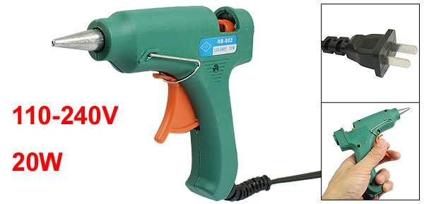 110-240V 20W US 2 Pin Plug Plastic Housing Hot Melt Trigger Glue Gun