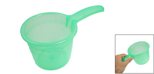 Home Kitchen Green Plastic Water Dipper Ladle 9