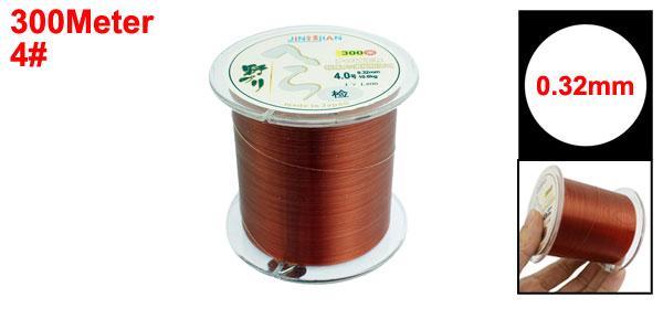 0.32mm Diameter 10Kg Brown Nylon Freshwater Fishing Spool Line 300m