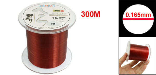 0.165mm Diameter 4.7Kg Brown Nylon Freshwater Fishing Spool Line 300m