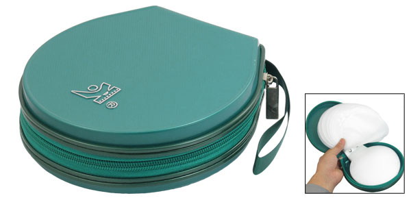 Teal Green 40 Pcs Capacity CD DVD Holder Round Storage Case