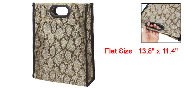 Home Foldable Snake Pattern Waterproof Shopping Handbag Bag