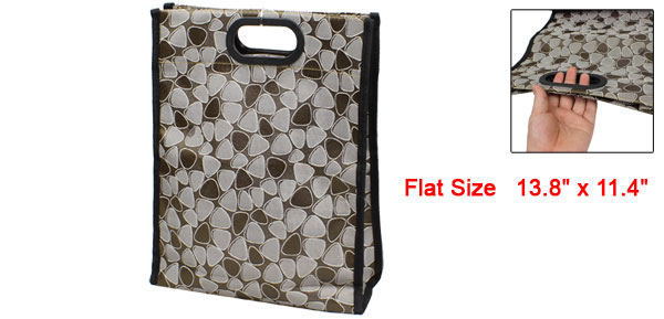 Home Foldable Pebble Pattern Waterproof Shopping Handbag Bag