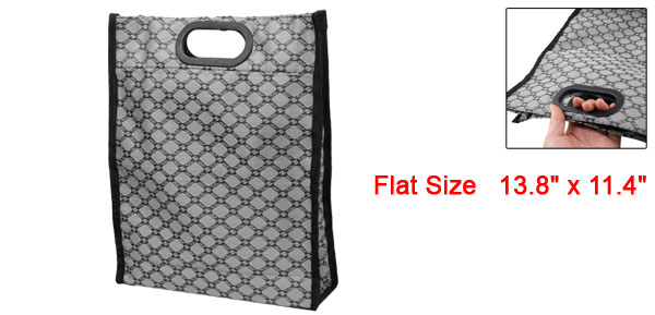 Home Foldable Check Pattern Waterproof Shopping Handbag Bag