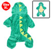 Costume Plush Dinosaur Design Pet Dog Jumpsuit Apparel Green XL