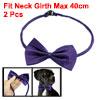 Dog Cat Pet Collar Accessory Bow Tie Necktie Purple 2 Pcs