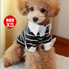 Pointed Collar Striped Chihuahua Dog Clothes Pet Doggie Shirt Top...