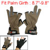 Pair Loop Hook Closure Wrist 3 Half 2 Full Fingers Sport Gloves B...