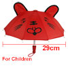 Leopard Head Print Red Mini Aanimal Umbrella Toy for Children