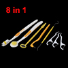 8 in 1 Oral Care Kit Tooth Brush Dental Toothpick Hygiene