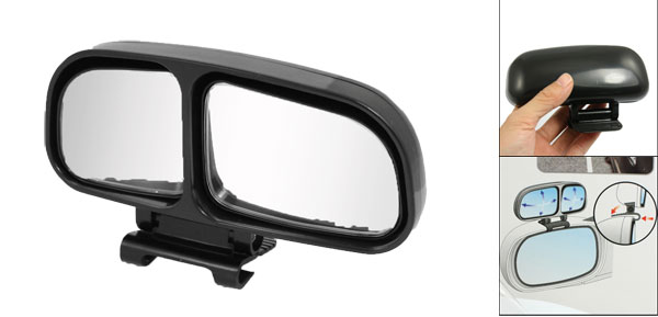 Convex Car Right Side Wide Angle Rear View Blind Spot Auxiliary Mirror Black