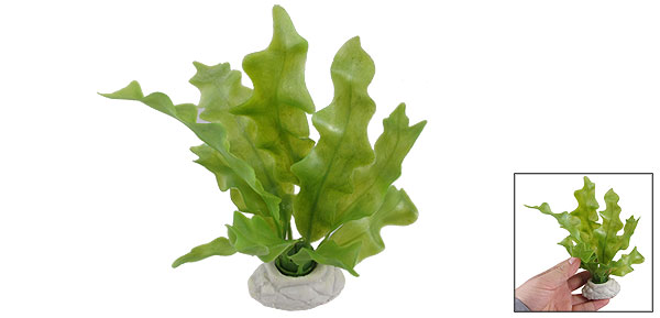 Aquarium Fish Tank Green Plastic Kelp Shape Aquascaping Plant 6.3