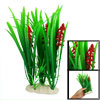 Fish Tank Fishbowl Decoration Red Flower Green Leaf Plastic Aquat...