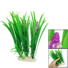 Fish Tank Fishbowl Decoration Fuchsia Flower Green Leaf Plastic A...