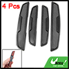 Auto Car Vehicles Black Self-adhesive Base Door Guard Stickers 4 ...