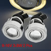 2 x H3 HID Xenon Yellow Angel Eyes Ring Fog Light Headlight Proje...