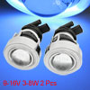 Car Blue CCFL Angel Eye Halo Fog Light H3 Xenon Projector Lens 2 ...