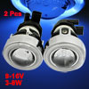 Car Blue CCFL Angel Eyes H3 HID Xenon Fog Light Lamp Projector Le...