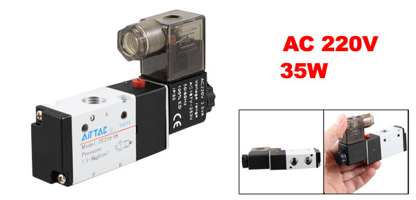 AC 220V 35W 3V210-08 2 Position 3 Way Pneumatic Solenoid Valve