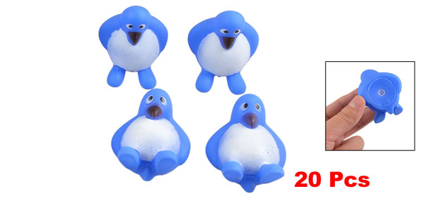 20 Pcs Blue Plastic Shrilling Penguin Screaming Squeeze Fetch Toy for Prank Joke