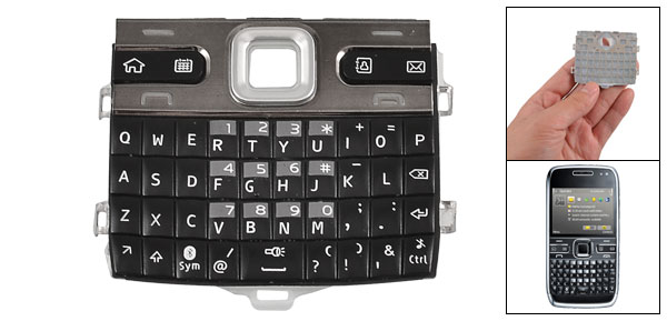 Replacement Keypad Keyboard Button Pad Black Dark Gray for Nokia E72