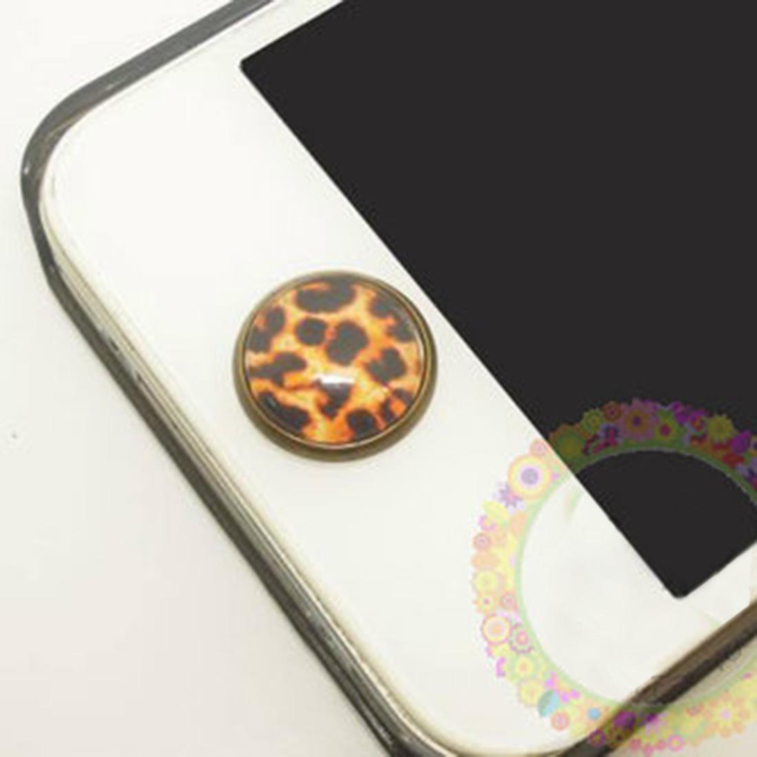 Braun-Leopard-Handy-Home-Button-Taste-Aufkleber-6-in-1-smart-Phone