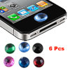 Bling Crystal Home Button Stickers 6 in 1 for iPhone 4 4G 4S 4GS ...
