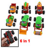 Earth Moving Bulldozer Crane Inertia Engineering Truck 6 in 1 Set for Kids