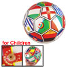"Colorful Flag Printed 8"" Inflated PVC Soccer Football Ball Toy for Children"