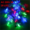 Christmas Decorative Flower Shape Red Green AC 220V 3A LED Lights...
