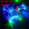 Holiday Wedding Party 2 Pin EU Plug Red Green AC 220V 3A LED Hang...